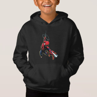 Spider-Man Web Slinging From Above Hoodie