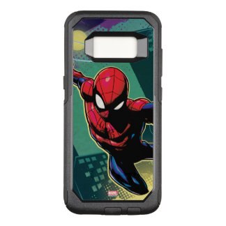 Spider-Man Web Slinging From Above OtterBox Commuter Samsung Galaxy S8 Case