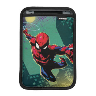 Spider-Man Web Slinging From Above Sleeve For iPad Mini