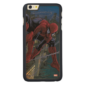 Spider-Man Web Slinging From Daily Bugle Carved Maple iPhone 6 Plus Slim Case