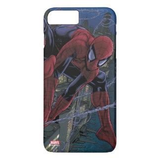 Spider-Man Web Slinging From Daily Bugle iPhone 8 Plus/7 Plus Case