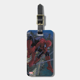 Spider-Man Web Slinging From Daily Bugle Luggage Tag