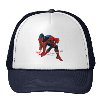 Spider-Man Web Slinging From Daily Bugle Trucker Hat