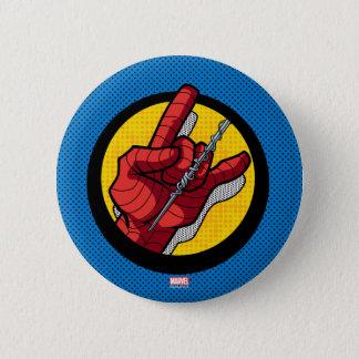 Spider-Man Web Slinging Hand Icon Button