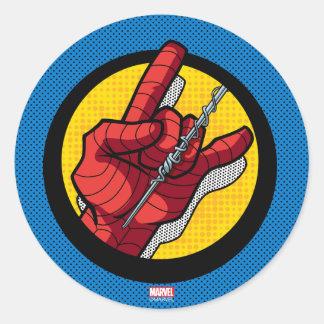 Spider-Man Web Slinging Hand Icon Classic Round Sticker