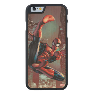 Spider-Man Web Slinging In City Marker Drawing Carved Maple iPhone 6 Slim Case