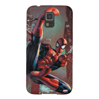 Spider-Man Web Slinging In City Marker Drawing Galaxy S5 Cover