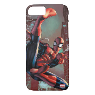 Spider-Man Web Slinging In City Marker Drawing iPhone 8/7 Case