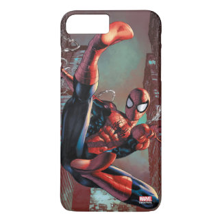 Spider-Man Web Slinging In City Marker Drawing iPhone 8 Plus/7 Plus Case