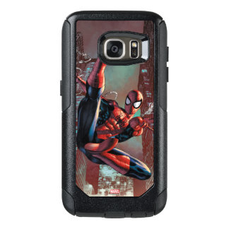 Spider-Man Web Slinging In City Marker Drawing OtterBox Samsung Galaxy S7 Case