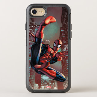 Spider-Man Web Slinging In City Marker Drawing OtterBox Symmetry iPhone 8/7 Case