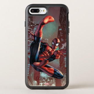 Spider-Man Web Slinging In City Marker Drawing OtterBox Symmetry iPhone 8 Plus/7 Plus Case