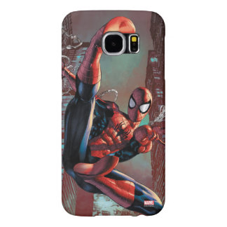 Spider-Man Web Slinging In City Marker Drawing Samsung Galaxy S6 Case