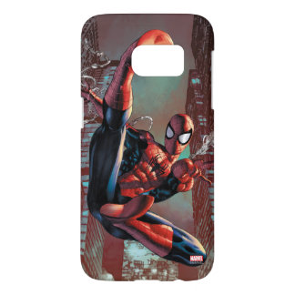 Spider-Man Web Slinging In City Marker Drawing Samsung Galaxy S7 Case