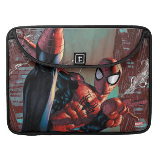 Spider-Man Web Slinging In City Marker Drawing Sleeves For MacBook Pro
