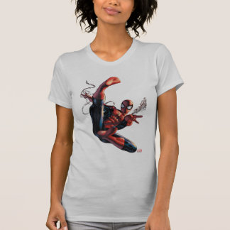 Spider-Man Web Slinging In City Marker Drawing T-Shirt