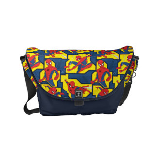 Spider-Man Web Slinging Panel Pattern Small Messenger Bag