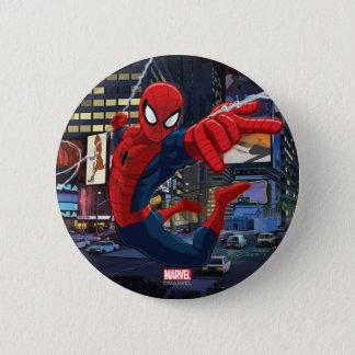 Spider-Man Web Slinging Through Traffic Button