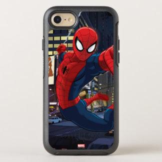 Spider-Man Web Slinging Through Traffic OtterBox Symmetry iPhone 8/7 Case