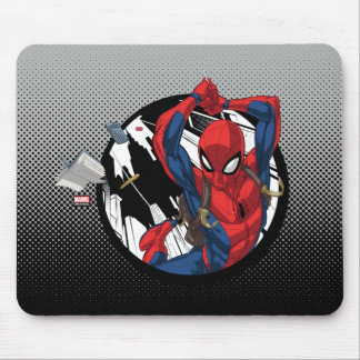 Spider-Man | Web-Swinging With Backpack Mouse Pad