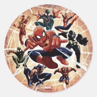 Spider-Man Web Warriors Attack Classic Round Sticker