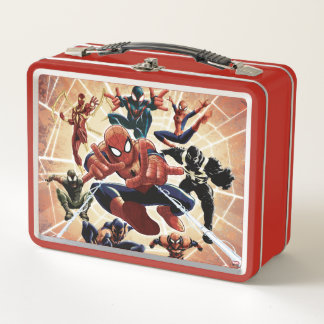 Spider-Man Web Warriors Attack Metal Lunch Box