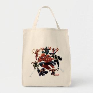 Spider-Man Web Warriors Attack Tote Bag