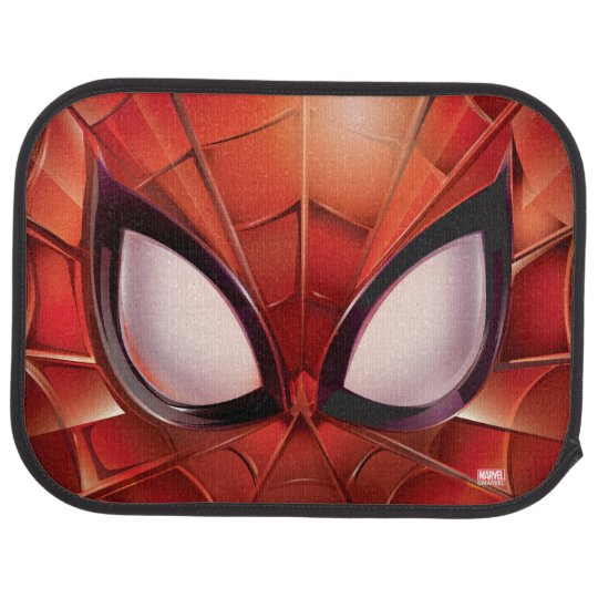 These Creative Man Cave Ideas Will Help You Relax In Style: Spider-Man Webbed Mask Car Mat
