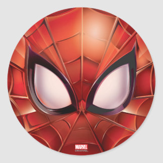 Spider-Man Webbed Mask Classic Round Sticker