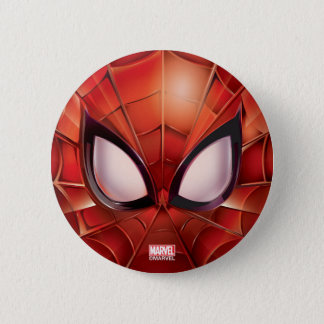 Spider-Man Webbed Mask Pinback Button
