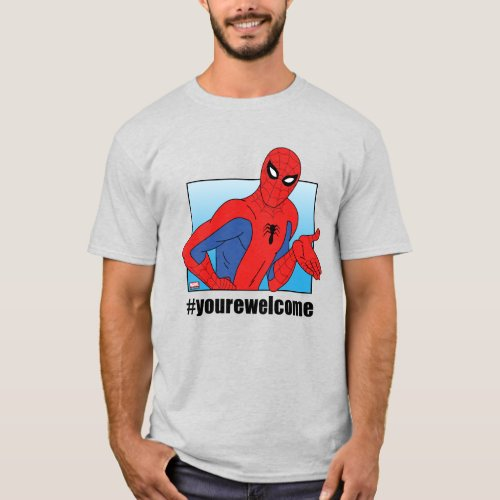 Spider_Man yourewelcome Gesture Meme Graphic T_Shirt