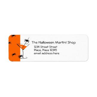 Spider Martini Label