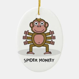 Spider Monkey Ceramic Ornament