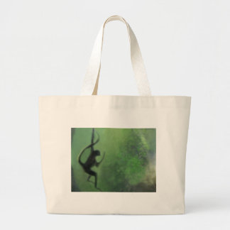 Spider Monkey in Motion Large Tote Bag