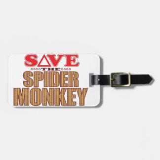 Spider Monkey Save Bag Tag