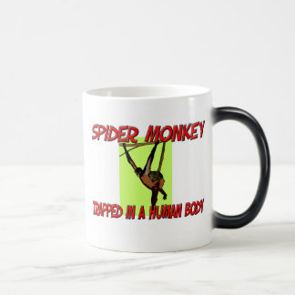 Spider Monkey trapped in a human body Magic Mug