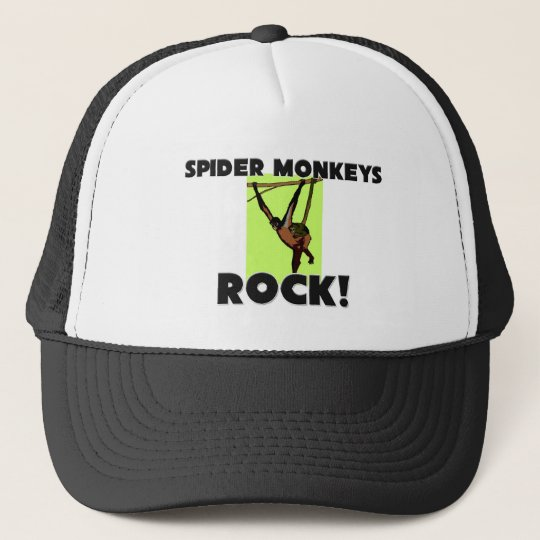 Spider Monkeys Rock Trucker Hat