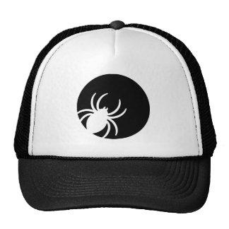 Spider moon night trucker hat