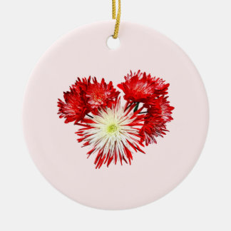 Spider Mum Heart Double-Sided Ceramic Round Christmas Ornament