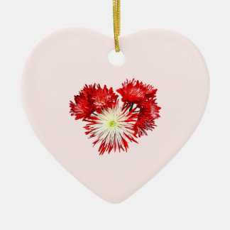 Spider Mum Heart Double-Sided Heart Ceramic Christmas Ornament