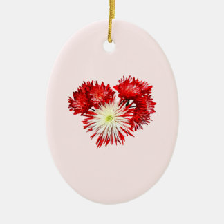 Spider Mum Heart Double-Sided Oval Ceramic Christmas Ornament