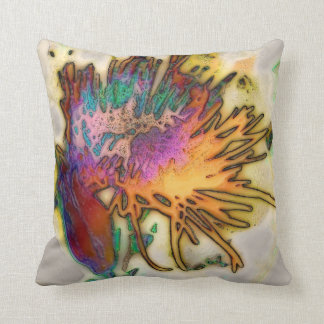 Spider Mum in Abstract, pillow