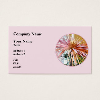 Spider Mum Pink Splendor Business Card