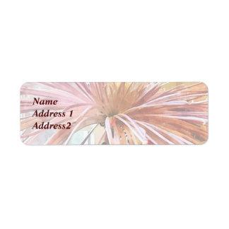 Spider Mum Pink Splendor Save the Date Label