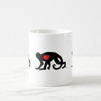 Spider Munkey Heart Tattoo design Classic White Coffee Mug