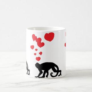 Spider Munkey in Love Classic White Coffee Mug