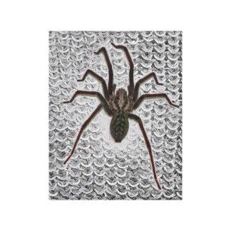 Spider on chain mail canvas print
