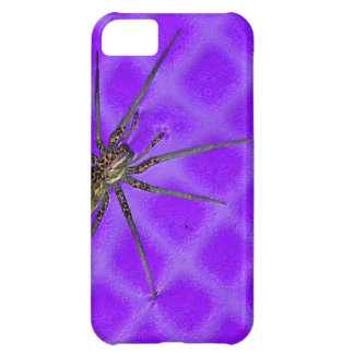 Spider on Purple Cool Halloween Design Case For iPhone 5C