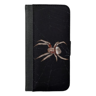 Spider on spiderweb photo iPhone 6/6s plus wallet case