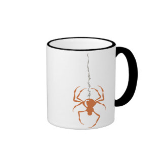 Spider on Strand Orange Mugs
